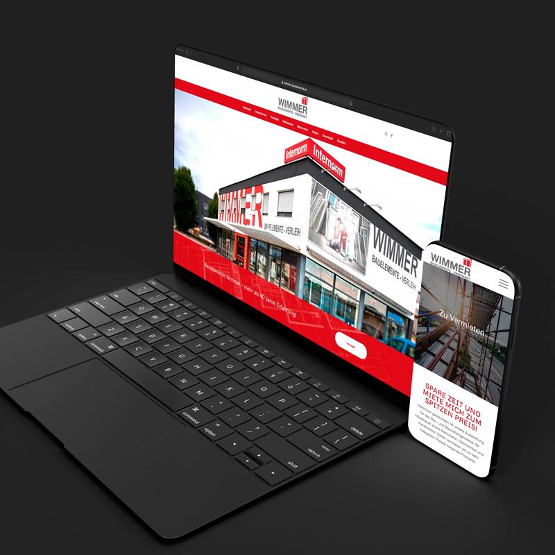 Website auf Notebook und Handy