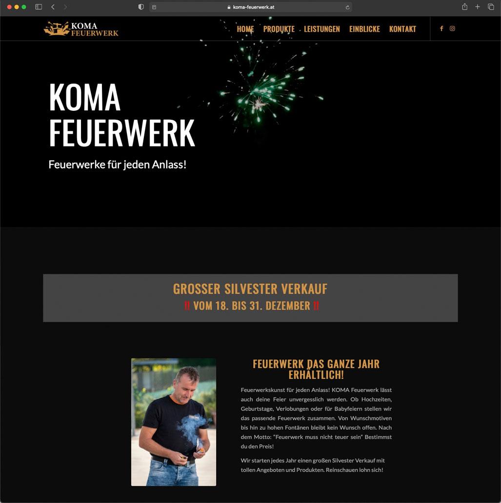 KOMA Feuerwerk - Referenz